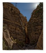 Nearing The Slot Canyon - Tent Rocks Fleece Blanket