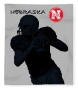 Nebraska Football Fleece Blanket