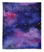Nebula Watercolor Galaxy Fleece Blanket