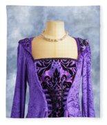Necklace And Dress Fleece Blanket