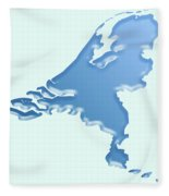 Nederland Waterland Fleece Blanket