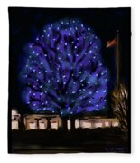 Needham's Blue Tree Fleece Blanket