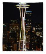 Needle At Night Fleece Blanket