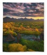Needle Rock Sunrise Fleece Blanket