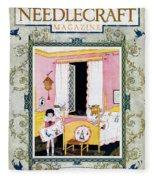 Needlecraft Magazine, 1927 Fleece Blanket