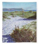 Needles From Hengistbury Head Fleece Blanket