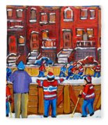Neighborhood  Hockey Rink Fleece Blanket