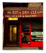 Neighborhood Shop - Dry Cleaners Fleece Blanket