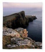 Neist Point Lighthouse, Isle Of Skye, Scotland Fleece Blanket