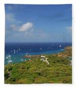 Nelson's Dockyard Antigua Fleece Blanket
