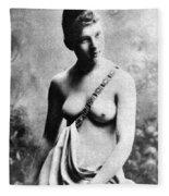 Neoclassical Nude Fleece Blanket
