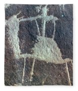 Neolithic Petroglyph Fleece Blanket