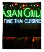 Neon Asian Grille Fleece Blanket