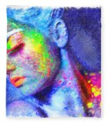 Neon Beauty Fleece Blanket