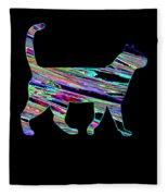 Neon Cat Cool Fleece Blanket