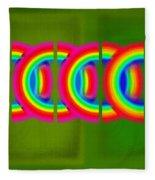 Neon Chain Fleece Blanket