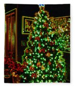 Neon Christmas Tree Fleece Blanket