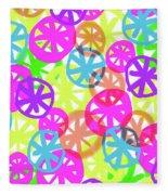 Neon Circles Fleece Blanket