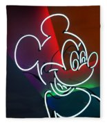 Neon Mickey Fleece Blanket