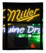 Neon Miller Beer Fleece Blanket