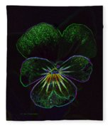Neon Pansy Fleece Blanket