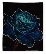 Neon Rose 3 Fleece Blanket