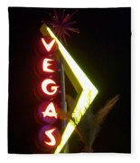 Neon Signs 2 Fleece Blanket