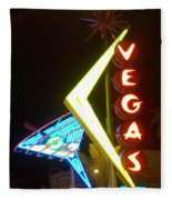 Neon Signs 3 Fleece Blanket