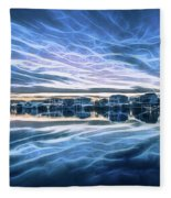 Neon Sunset Fleece Blanket