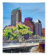Neon Tampa Fleece Blanket