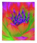 Neon Water Lily - Photopower 3370 Fleece Blanket