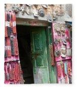 Nepalese Jewelry Shop Fleece Blanket