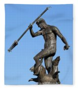 Neptune Statue In Gdansk Fleece Blanket