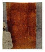 Nero Rustic Sculpture Wall Fleece Blanket