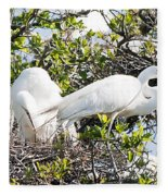 Nest Building Fleece Blanket