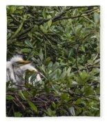 Nesting Chicks Fleece Blanket