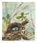 Nesting I Fleece Blanket