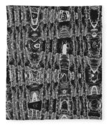 Net Leaf Hackberry Winter  Branch Abstract  Fleece Blanket