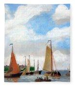 Netherland's Harbour Fleece Blanket