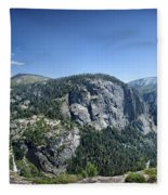 Nevada And Vernal Falls From Near Grizzly Peak - Yosemite Valley Fleece Blanket