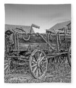 Nevada City Montana Freight Wagon Fleece Blanket