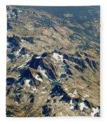 Nevada Mountain Terrain Aerial Lakes Fleece Blanket