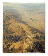 Nevada Mountain Terrain Aerial Fleece Blanket