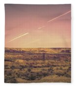 Nevada Usa Valley Of Fire  Fleece Blanket