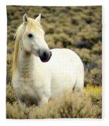 Nevada Wild Horses 3 Fleece Blanket