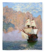 New Albion. Sir Francis Drakes Ship Fleece Blanket