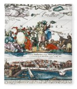 New Amsterdam, 1673 Fleece Blanket