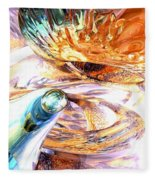 New Beginnings Abstract  Fleece Blanket