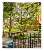 New Bern Street Scene Fleece Blanket