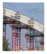 New Bridge Concrete Arc Construction Site Fleece Blanket
